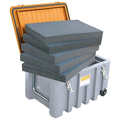 CEMO Schaumstoffeinlage - aus PUR-Würfelschaum, für 150-l-Box