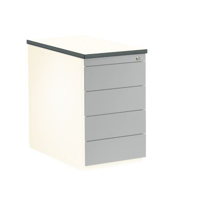 mauser Schubladencontainer - Höhe 720 mm, Kunststoffplatte, 4 Schubladen