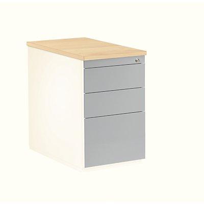 mauser caisson tiroirs hauteur 720 mm plateau en plastique 3 tiroirs. Black Bedroom Furniture Sets. Home Design Ideas