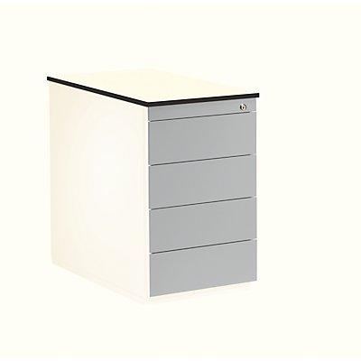 mauser Schubladencontainer - Höhe 708 mm, HPL-Vollkernplatte, 4 Schubladen