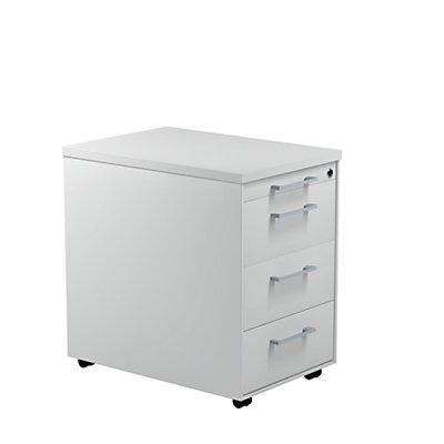 mauser Schubladencontainer - HxT 579 x 600 mm, Kunststoffplatte, 3 Schubladen