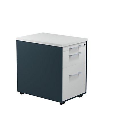 mauser Schubladencontainer - HxT 579 x 600 mm, Kunststoffplatte, 2 Schubladen