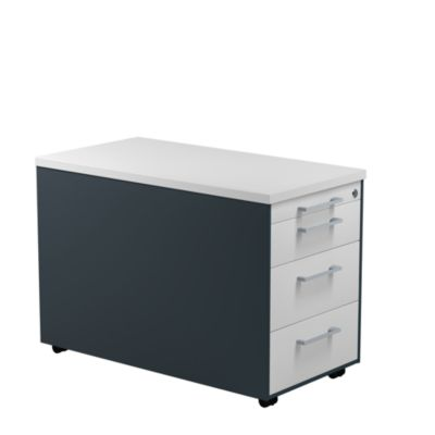 mauser Schubladencontainer - HxT 529 x 800 mm, Kunststoffplatte, 3 Schubladen