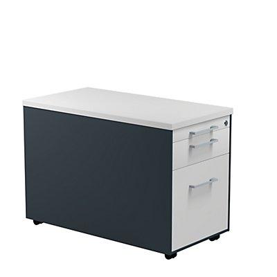mauser Schubladencontainer - HxT 529 x 800 mm, Kunststoffplatte, 2 Schubladen