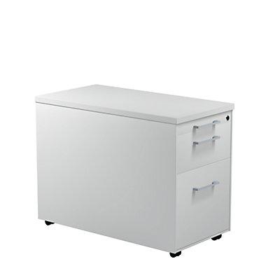 mauser Schubladencontainer - HxT 579 x 800 mm, Kunststoffplatte, 2 Schubladen