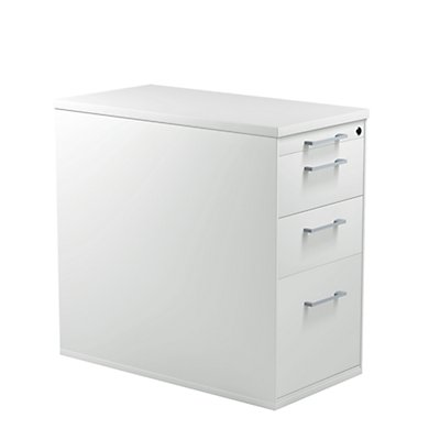 mauser Schubladencontainer mit Sockel - Höhe 720 mm, Kunststoffplatte, 3 Schubladen
