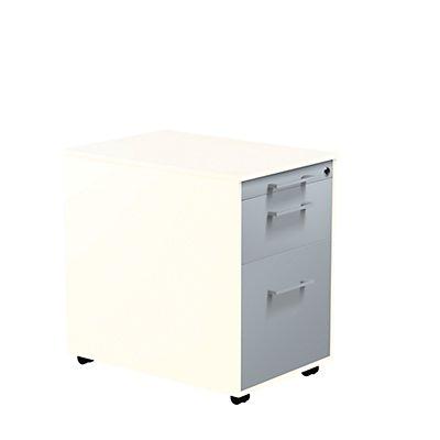 mauser Schubladencontainer - HxT 570 x 600 mm, Stahlplatte, 2 Schubladen