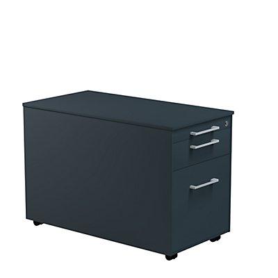 mauser Schubladencontainer - HxT 520 x 800 mm, Stahlplatte, 2 Schubladen
