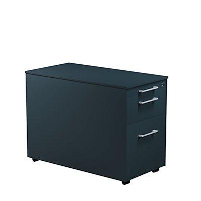 mauser Schubladencontainer - HxT 570 x 800 mm, Stahlplatte, 2 Schubladen