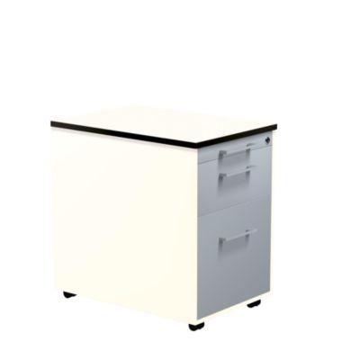 mauser Schubladencontainer - HxT 573 x 600 mm, HPL-Vollkernplatte, 2 Schubladen