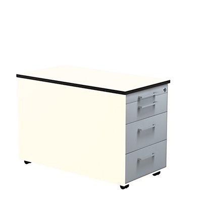 mauser Schubladencontainer - HxT 523 x 800 mm, HPL-Vollkernplatte, 3 Schubladen