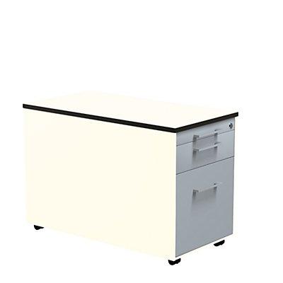mauser Schubladencontainer - HxT 523 x 800 mm, HPL-Vollkernplatte, 2 Schubladen