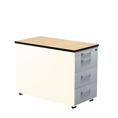 mauser Schubladencontainer - HxT 573 x 800 mm, HPL-Vollkernplatte, 3 Schubladen