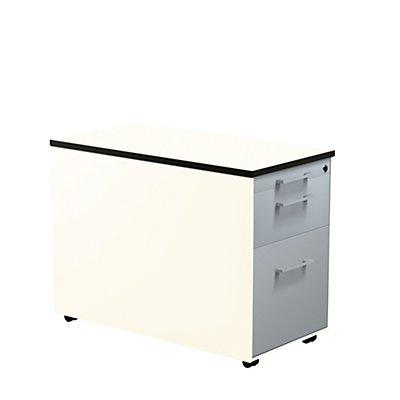 mauser Schubladencontainer - HxT 573 x 800 mm, HPL-Vollkernplatte, 2 Schubladen