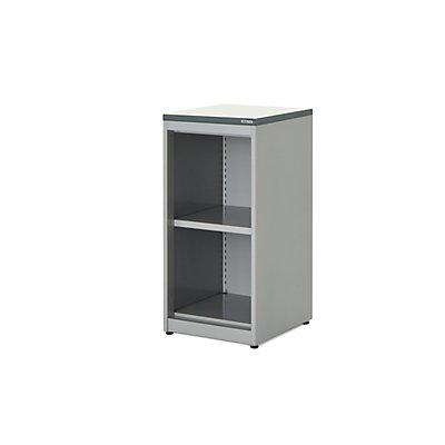 mauser Regalschrank - HxBxT 830 x 400 x 432 mm, Kunststoffplatte, 1 Fachboden, reinweiß / weiß