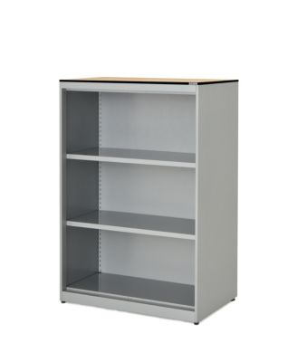 mauser Regalschrank - HxBxT 1168 x 800 x 432 mm, Vollkernplatte, 2 Fachböden