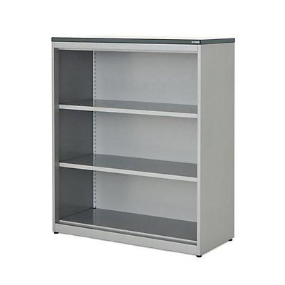 mauser Regalschrank - HxBxT 1180 x 1000 x 432 mm, Kunststoffplatte, 2 Fachböden