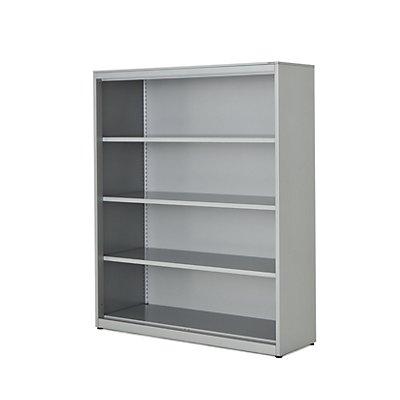 mauser Regalschrank - HxBxT 1516 x 1200 x 432 mm, Stahlplatte, 3 Fachböden