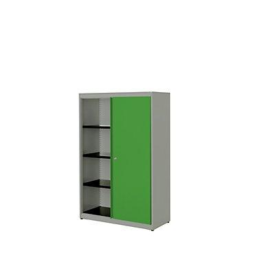 mauser Schiebetürenschrank - HxBxT 1516 x 1000 x 432 mm, Stahlplatte, 3 Fachböden