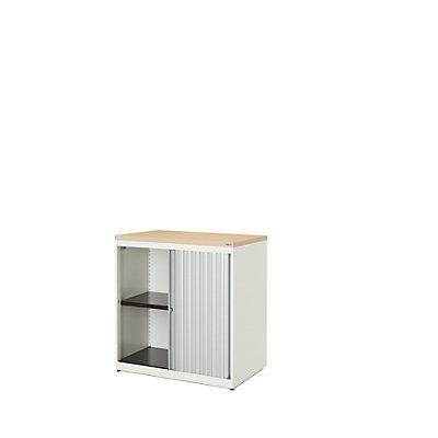 mauser Querrollladenschrank - HxBxT 830 x 800 x 432 mm, Kunststoffplatte, 1 Fachboden