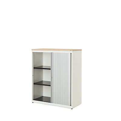 mauser Querrollladenschrank - HxBxT 1180 x 800 x 432 mm, Kunststoffplatte, 2 Fachböden
