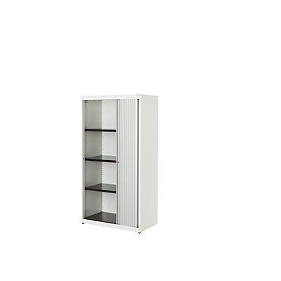 mauser Querrollladenschrank - HxBxT 1516 x 800 x 432 mm, Stahlplatte, 3 Fachböden