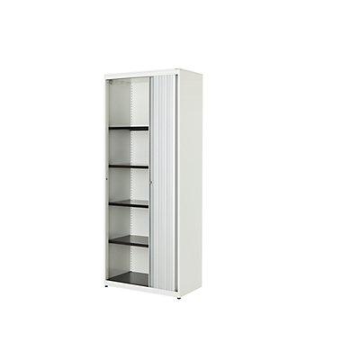mauser Querrollladenschrank - HxBxT 1956 x 800 x 432 mm, Stahlplatte, 4 Fachböden