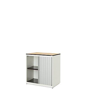 mauser Querrollladenschrank - HxBxT 818 x 800 x 432 mm, Vollkernplatte, 1 Fachboden