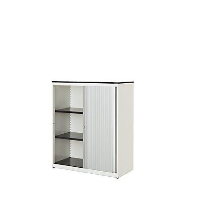 mauser Querrollladenschrank - HxBxT 1168 x 800 x 432 mm, Vollkernplatte, 2 Fachböden
