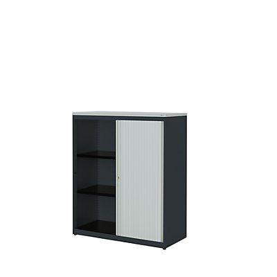 mauser Querrollladenschrank - HxBxT 1180 x 1000 x 432 mm, Kunststoffplatte, 2 Fachböden