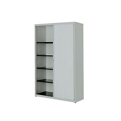mauser Querrollladenschrank - HxBxT 1516 x 1000 x 432 mm, Stahlplatte, 3 Fachböden