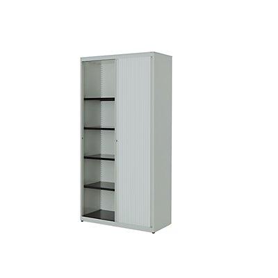 mauser Querrollladenschrank - HxBxT 1956 x 1000 x 432 mm, Stahlplatte, 4 Fachböden