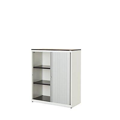 mauser Querrollladenschrank - HxBxT 1168 x 1000 x 432 mm, Vollkernplatte, 2 Fachböden