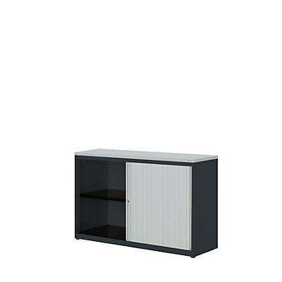 mauser Querrollladenschrank - HxBxT 830 x 1200 x 432 mm, Kunststoffplatte, 1 Fachboden