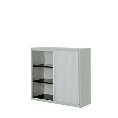 mauser Querrollladenschrank - HxBxT 1180 x 1200 x 432 mm, Kunststoffplatte, 2 Fachböden