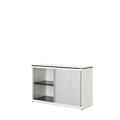 mauser Querrollladenschrank - HxBxT 818 x 1200 x 432 mm, Vollkernplatte, 1 Fachboden