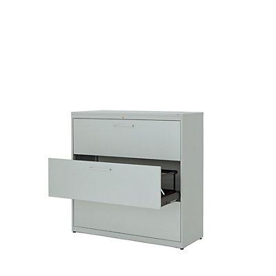 mauser Hängeregistraturschrank - Kunststoffplatte, 3 Auszüge, 3-bahnig, mit Dämpfung