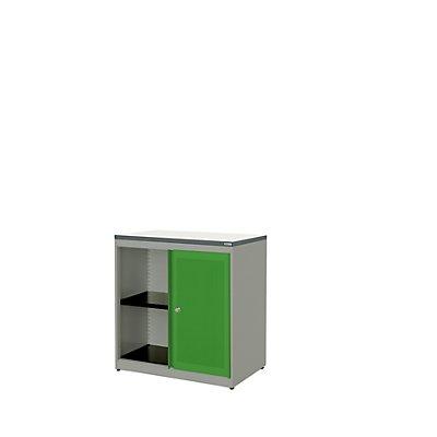 mauser Schiebetürenschrank - Kunststoffplatte, HxBxT 830 x 800 x 432 mm, 1 Fachboden