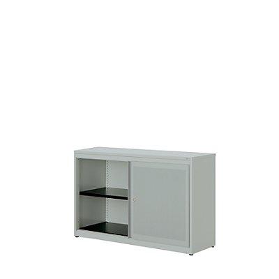 mauser Schiebetürenschrank - Kunststoffplatte, HxBxT 830 x 1200 x 432 mm, 1 Fachboden