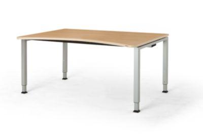 mauser Freiformtisch, höhenverstellbar - Breite 1600 mm
