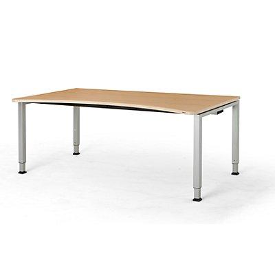 mauser Freiformtisch, höhenverstellbar - Breite 1800 mm