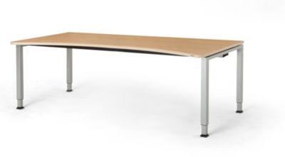 mauser Freiformtisch, höhenverstellbar - Breite 2000 mm