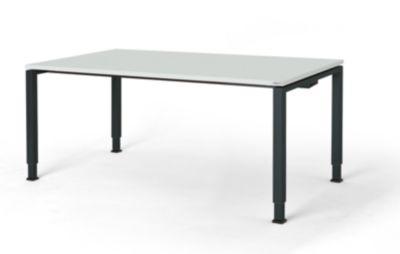 mauser Rechtecktisch, Fußform Quadratrohr - HxBxT 650 – 850 x 1800 x 900 mm, Kunststoffplatte