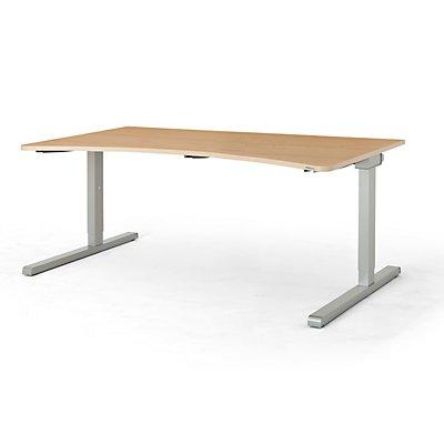 mauser Freiformtisch, C-Fuß - Breite 1600 mm