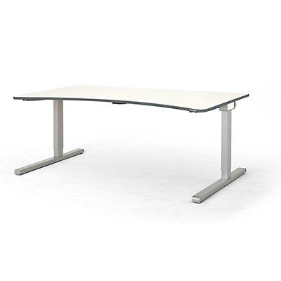 mauser Freiformtisch, C-Fuß - Breite 1800 mm