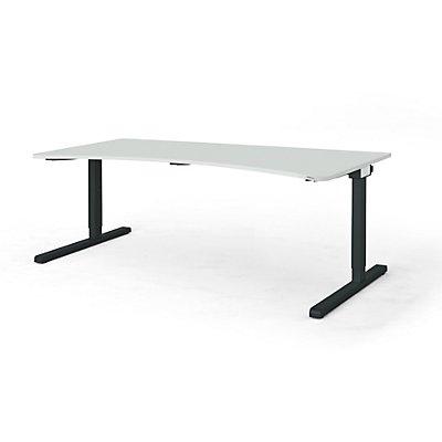 mauser Freiformtisch, C-Fuß - Breite 2000 mm