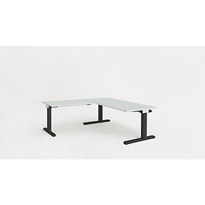 mauser Schreibtisch, verkettet - BxT 1600 x 800 mm, Winkelansatz links (Breite 1000 mm)