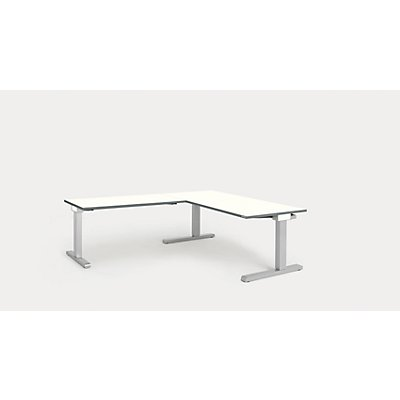 mauser Schreibtisch, verkettet - BxT 1600 x 800 mm, Winkelansatz links (Breite 1200 mm)