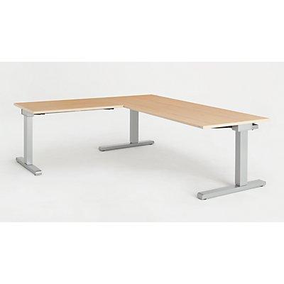 mauser Schreibtisch, verkettet - BxT 1800 x 800 mm, Winkelansatz links (Breite 1000 mm)