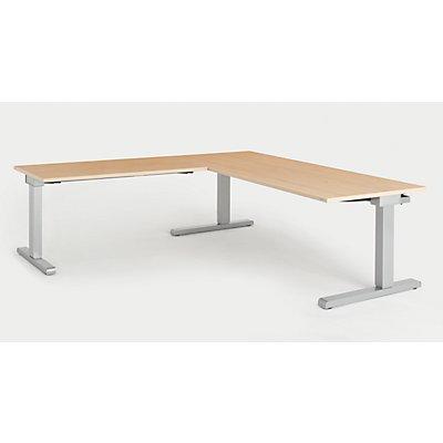 mauser Schreibtisch, verkettet - BxT 1800 x 800 mm, Winkelansatz links (Breite 1200 mm)